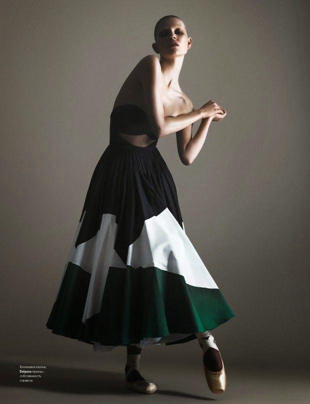 Ola Rudnicka by Arcin Sagdic for Vogue Ukraine June 2015 - Delpozo