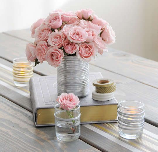 The DIY Upcycled Valentine's Day Table Decor Piece is Basic #pink trendhunter.com