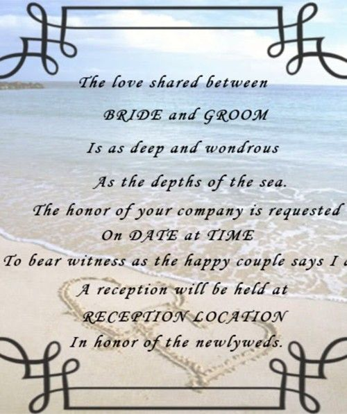 15 Best Images About Beach Wedding Quotes On Pinterest