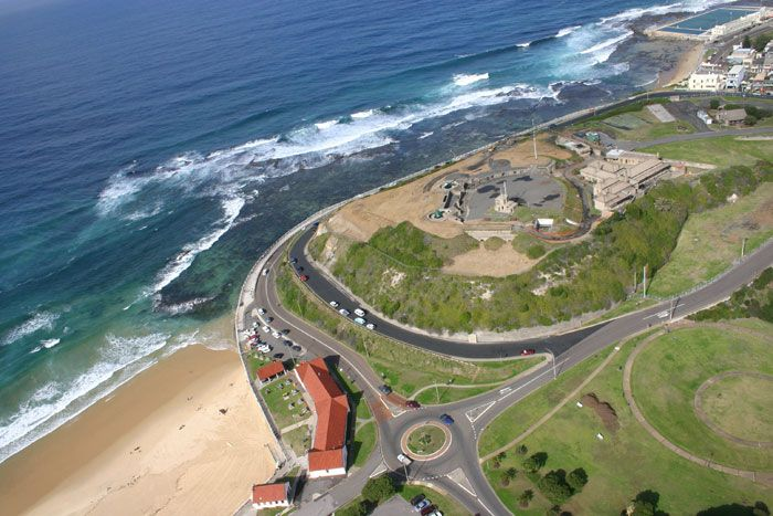 Aerial View of Fort Scratchley – Newcastle Visit us on http://www.belledental.com.au