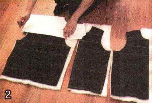 Как сделать стеганую подкладку к шерстяному пальто.