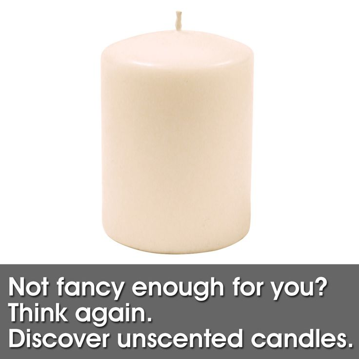 Unscented Candles are perfect for environments where there is already nice smells, like the dinner table. People with Athsma, those allergies to scents, can also still enjoy the light and charm of candles.