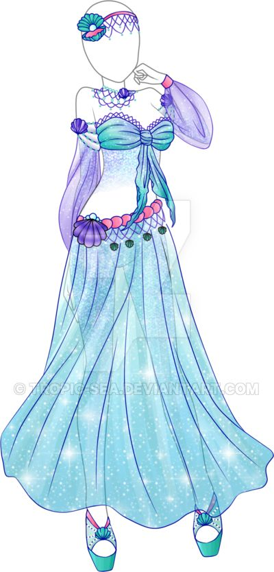 Dress Adoptable 09 - Closed by Tropic-Sea.deviantart.com on @DeviantArt