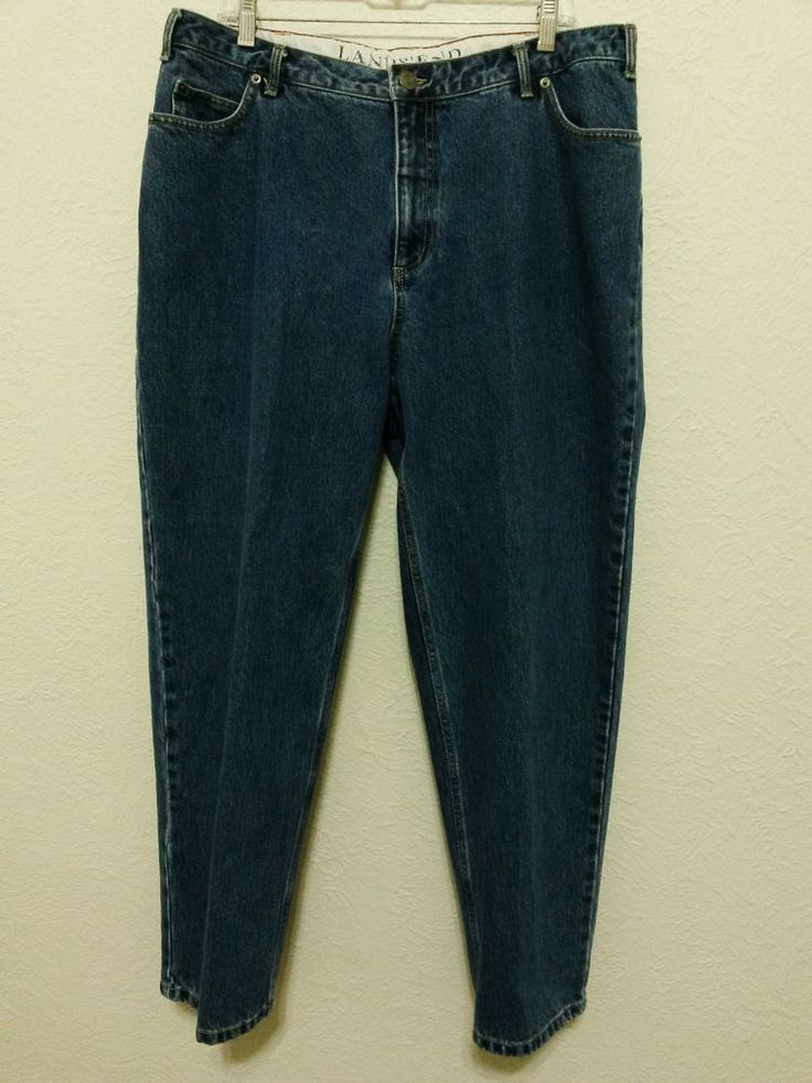 "Lands' End - Women's Blue Jeans - Size 16W/P with 28 1/2"" Inseam - Denim Pants #LandsEnd #StraightLeg ..... Visit all of our online locations ..... (www.stores.eBay.com/variety-on-a-budget) ..... (www.amazon.com/shops/Variety-on-a-Budget) ..... (www.etsy.com/shop/VarietyonaBudget) ..... (www.bonanza.com/booths/VarietyonaBudget ) .....(www.facebook.com/VarietyonaBudgetOnlineShopping)"