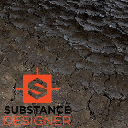 Cracked Mud - Substance Designer, Kurt Kupser on ArtStation at https://www.artstation.com/artwork/GVJoW