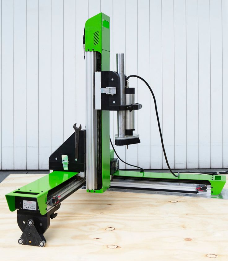 Work. A portable CNC routing machine