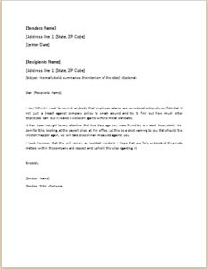 official letter in english