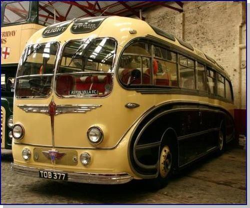 burlingham seagull bus 1950, built by H. V. Burlingham, BlackPool, Lancashire, UK - Art Deco