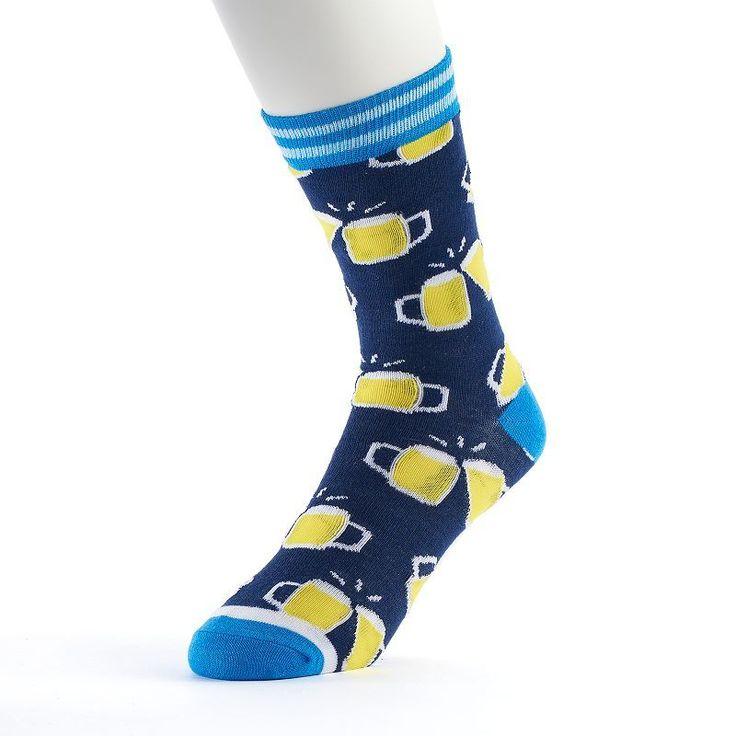 Men's Novelty Socks, Blue (Navy)