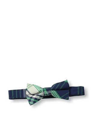 35% OFF Urban Sunday Kid's Cleveland Bow Tie (Blue/Green Plaid)