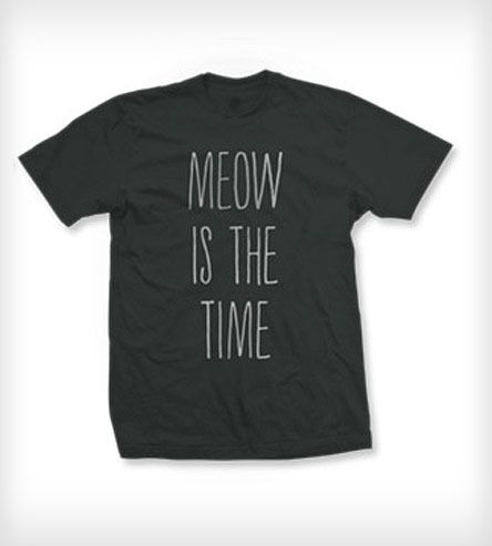 Meow Is The Time Tee - Charcoal   Men's Clothing   Pussies on Parade   Scoutmob Shoppe   Product Detail