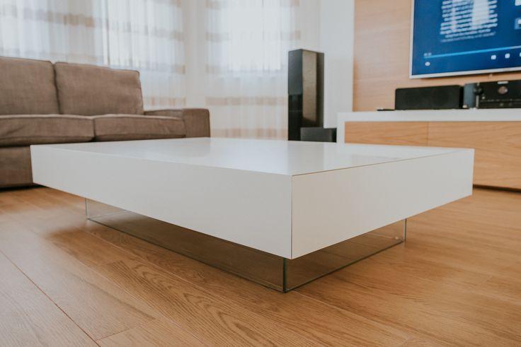 Table  #table #livingroom #modern #design #sarampobdesign #mdf #whitepainted #glasses