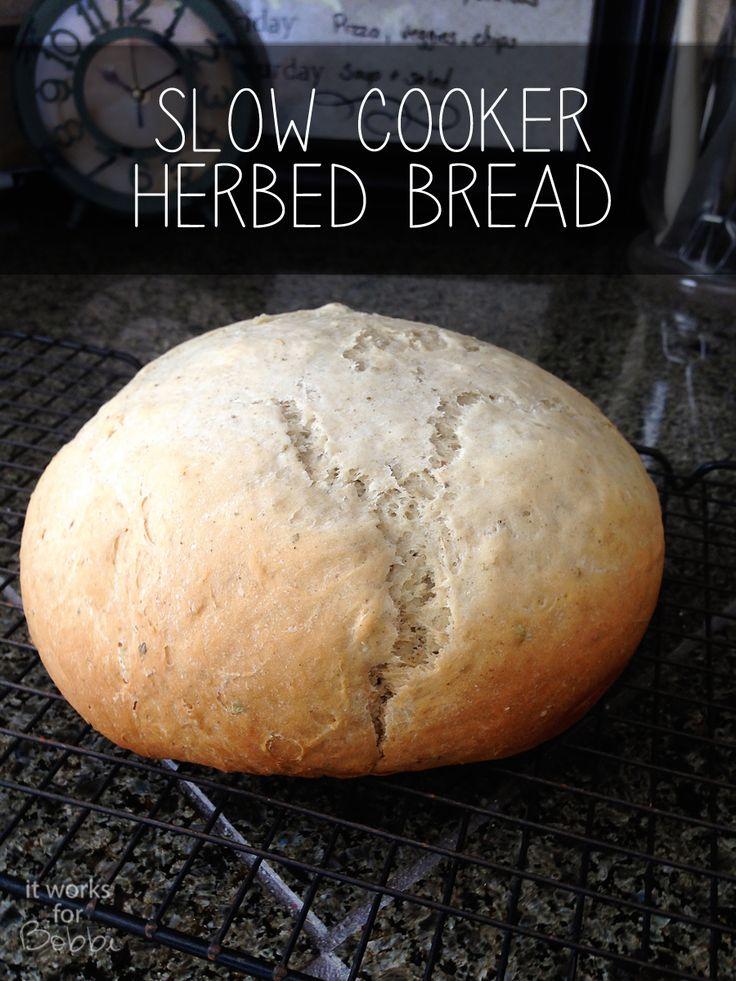 Slow Cooker Herb Bread #slowcookerbread #artisanbread