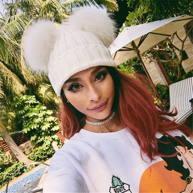 >> Click to Buy << Women's Winter Hat Chunky Knit Double Pom Pom Beanies Cap Faux Fur Pompom Hats Women Headgear Ear Warmer Bobble Bonnet Gorros #Affiliate