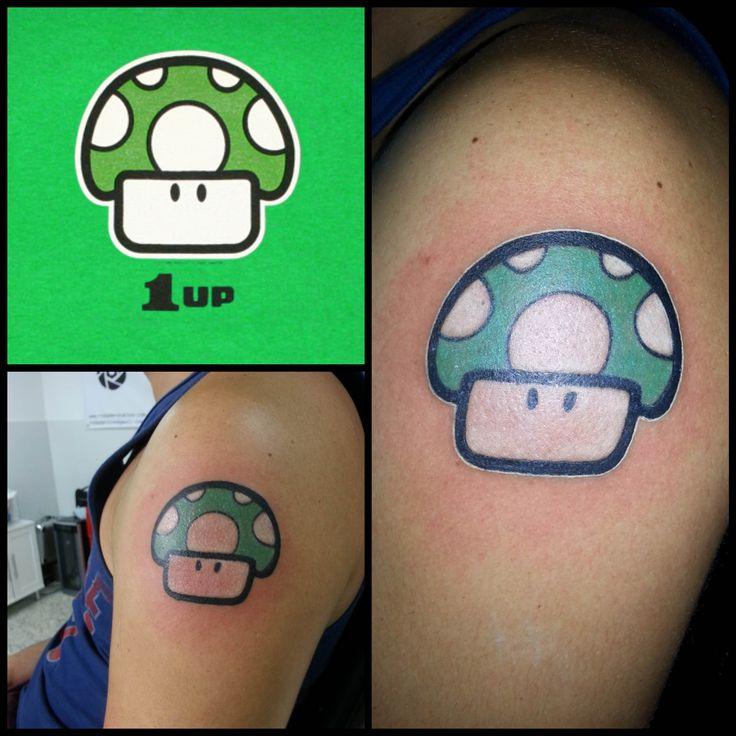 1 Up mushroom from Mario Bros, honguito de Mario Bros