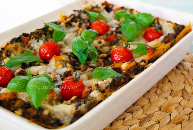 Glutenvrije lasagne met spinazie