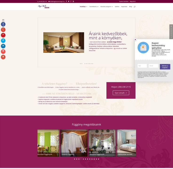 fuggonyvarraseger.hu weboldal - Bitmami - weboldal készítés
