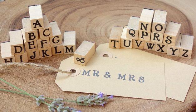 Buchstabenstempel für alle DIY-Karten-Projekte rund um die Hochzeit!