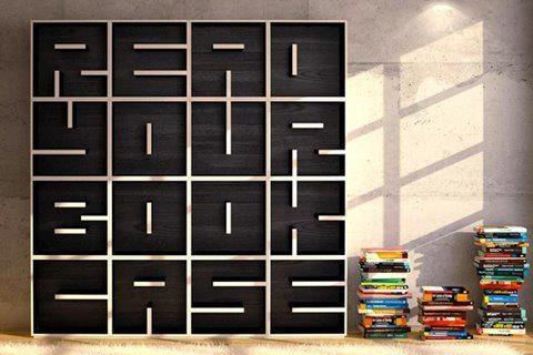 Lees je boekenkast... mooi maar ook handig? Enkel deze foto