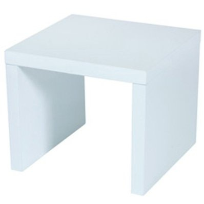 Levv High Gloss Side Table End Table - White £79.99