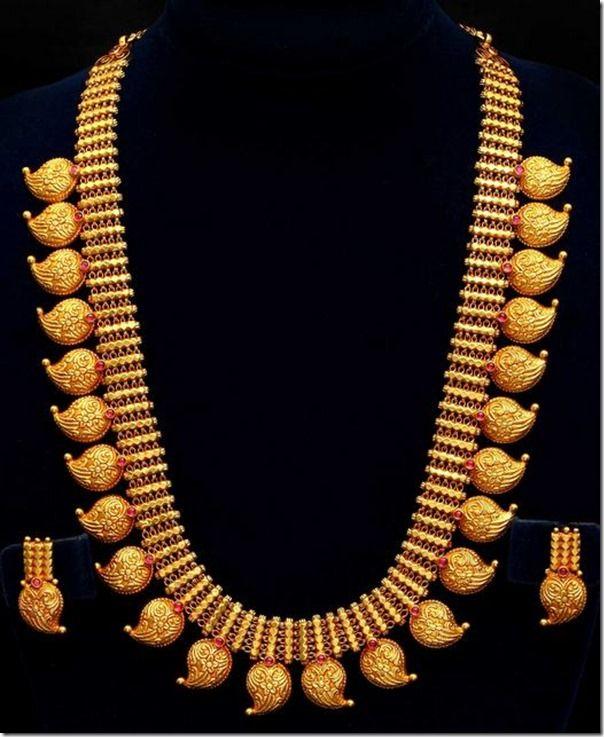 Long length mango mala from vummidi jewellers