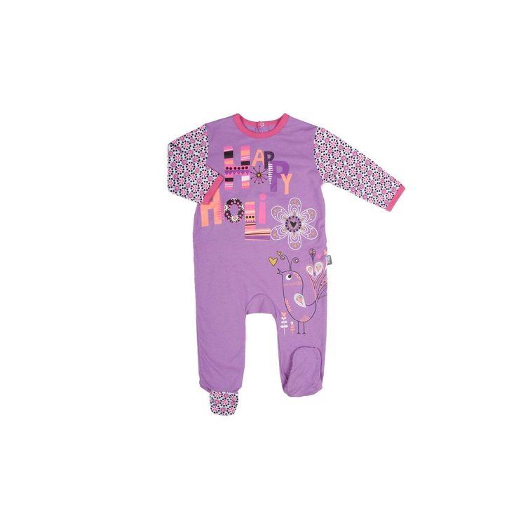 Pyjama bébé fille mauve Happy Holi PETIT BEGUIN : prix, avis & notation, livraison.  Tailles disponibles : 3 mois, 6 mois, 9 mois, 12 mois, 18 mois, 24 mois et 36 mois Descriptif technique Composition pyjama bébé : 95 % coton, 5% élasthanne Densité: 160g/m² Picots antidérapants à partir de la taille 12 mois (incluse) Entretien Lavable en machine à 30° - essorage normal (laver sur l'envers) Température maximale de repassage : 150° (repasser sur l'envers - repassage vapeur déconseillé)…