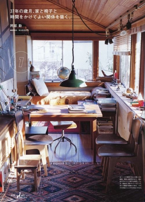 small space: Work Spaces Studios, Offices Spaces, Lakes Houses, Interiors Design, Workspaces, Interiordesign, Back Porches, Cozy Rooms, Small Spaces