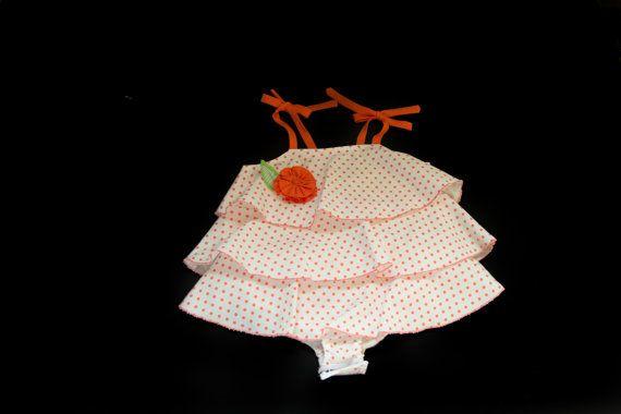 Baby ruffle bubble dress Baby ruffle romper by TeenyBambiniCouture, $29.99