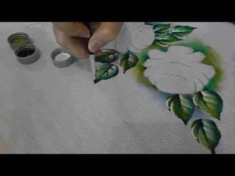 Pintura em Tecido Folha - YouTube