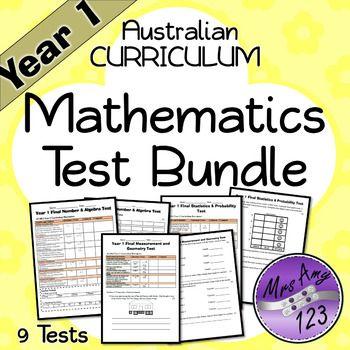 Year 1 Measurement & Geometry Maths Test Pack- Australian