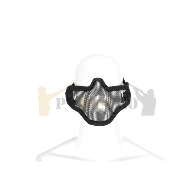 #Masca de #protectie din plasa de metal de culoare neagra pentru jocurile #airsoft.   http://pvmag.ro/produs/masca-de-protectie-airsoft-steel-half/