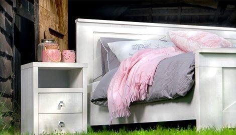 bed wit, landelijk, romantischMaat : 160 x 200/210/220 cm. 180 x 200 ...