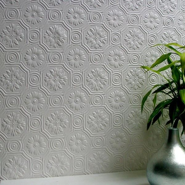 Anaglypta Spencer Paintable Supaglypta Vinyl Strippable Wallpaper Covers 56 4 Sq Ft 437 Rd0151 The Home Depot Anaglypta Wallpaper Paintable Wallpaper Embossed Wallpaper