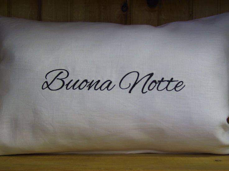 Buona Notte Linen Pillow