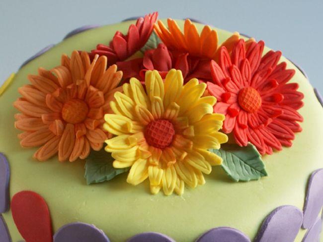 gerbera Bröllopstårta