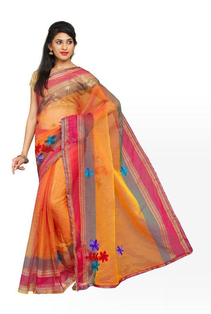 Parchayee Orange Mysore Art silk Embriodered Saree FS: Amazon : Clothing & Accessories  http://www.amazon.in/s/ref=as_li_ss_tl?_encoding=UTF8&camp=3626&creative=24822&field-keywords=mysore%20silk%20sarees&linkCode=ur2&tag=onlishopind05-21&url=node%3D1968256031  #Mysore #Silk #Sarees