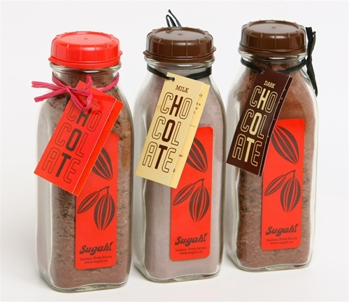#Halifax's Sugah! has delicious treats to keep your loved ones warm and toasty this winter. With hot chocolate packaged in re-usable glass milk bottles, you can't go wrong. How cool is that?!