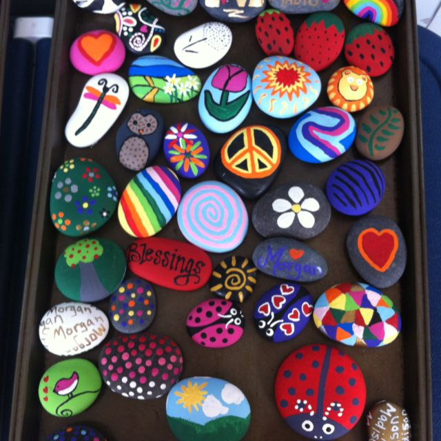 Painted rocks...