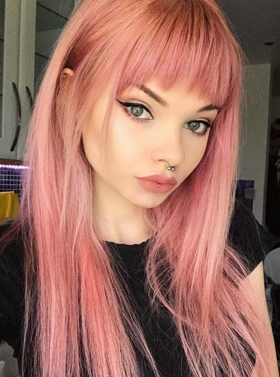 gorgeous pink hair colors & hairstyles