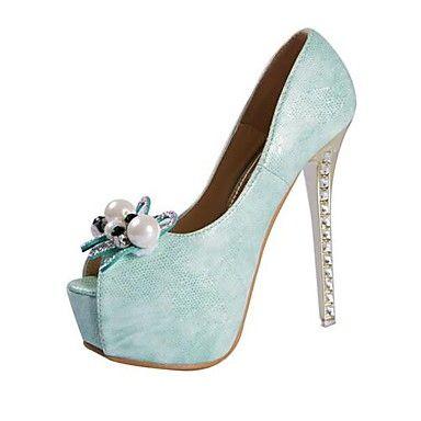 scarpe da donna peep toe pompe tacco a spillo con scarpe perla più colori disponibili - EUR € 40.90