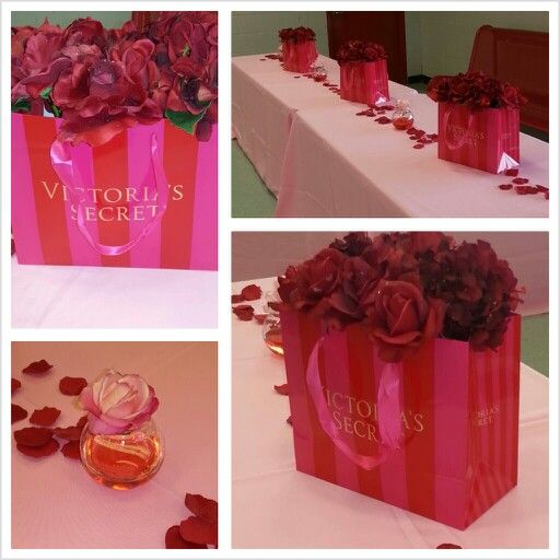 Just finished decorating for a Victoria's Secret Bridal Shower...this is our finished product