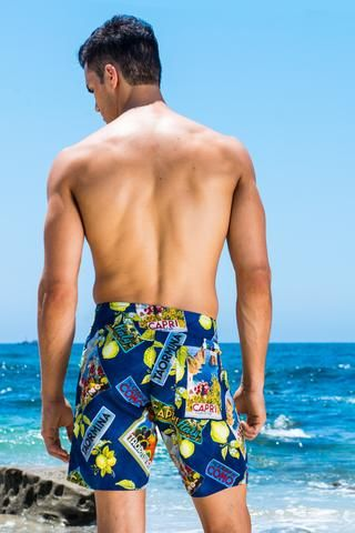 These shorts have a relaxed fit, and feature a longer inseam. They are ideal for the male that loves to participate in active water sports.  Its super lightweight and smooth. There is no lining underneath so there won't be any ride up. This traditional board short style has a small back pocket and lace up drawstring for a secure fit. Made in the U.S.A.