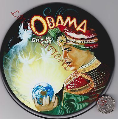 BARACK-OBAMA-2008-ELECTION-034-OBAMA-THE-GREAT-034-POLITICAL-BUTTON-SIX-6-INCHES