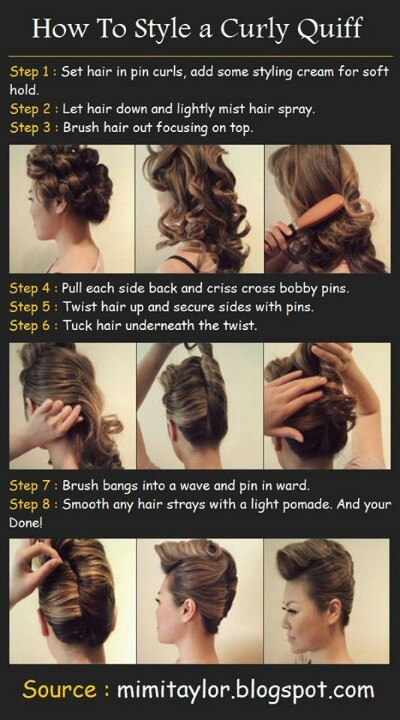 How to pin curl up do