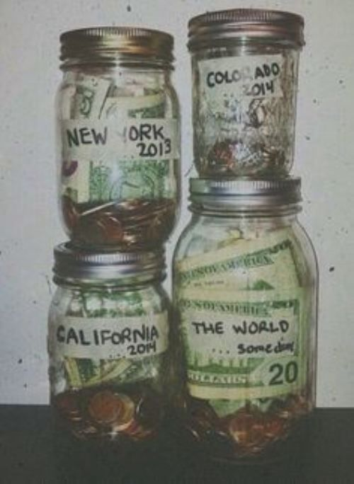 Travel money jars