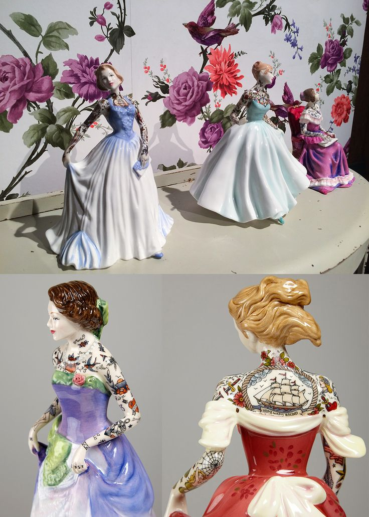 tattooed porcelain figures by jessica harrison.