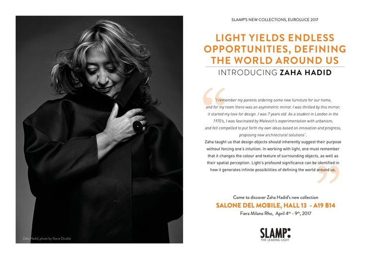 Zaha Hadid, 31 October 1950 - 31 March 2016. We will ensure that your legacy continues to shine.