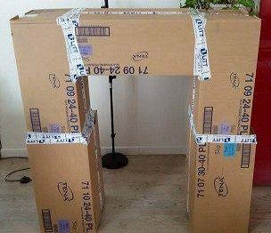les 25 meilleures id es de la cat gorie chemin e en carton sur pinterest grandes bo tes en. Black Bedroom Furniture Sets. Home Design Ideas