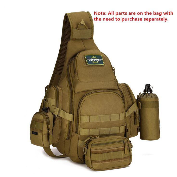 Мужчины тактика сумка военная техника нейлон Груди Пакет Кроссбоди слинг тактика мужские сумки через плечо F74