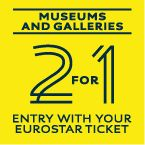 2 for 1 entry for select #Paris attractions with your #Eurostar ticket (valid 5 days from date of travel). Musee d'Orsay, Grand Palais, Galeries nationales, Jeu de Paume and Musée du quai Branly. (Also works for London attractions if traveling from Paris/Brussels to London).